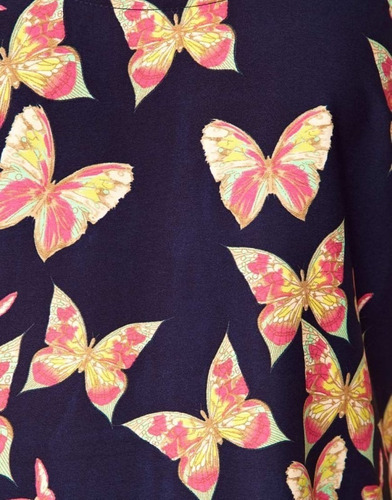 blusa sencilla hermosa de chifon mariposas