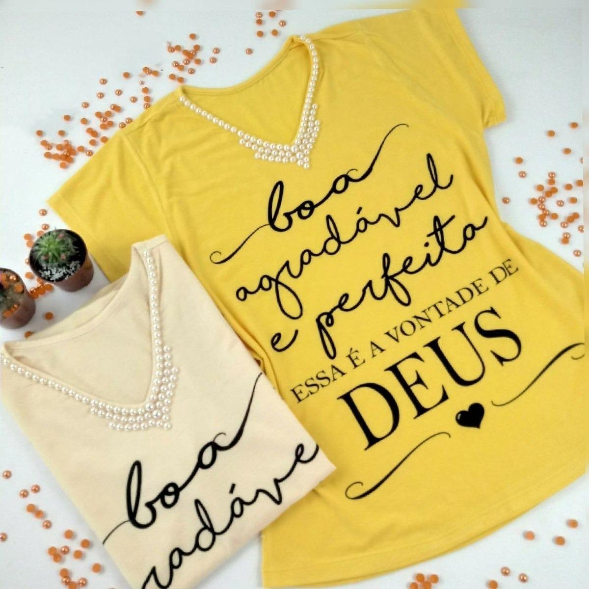 Blusa Shirt Frases Gospel Evangélica Boa Agradável