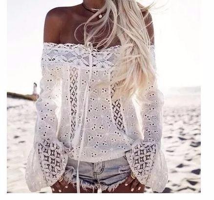 blusa, s/hombro,blanca xl  38 _40 envio gratis