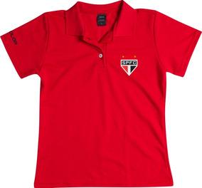 9e029b2237 Blusa São Paulo Feminina Gola Polo Baby Look Camisa Feminino