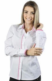 38f9d49be6 Camisa Feminina Fio Egipcio - Camisa Social no Mercado Livre Brasil