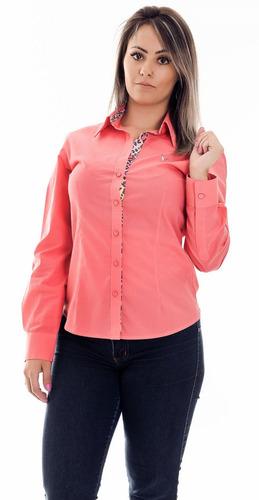 blusa social feminina karly - pimenta rosada