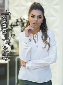 614828ede8768 Blusa De Gola Laço Sem Mangas Feminino - Blusas com o Melhores Preços no  Mercado Livre Brasil