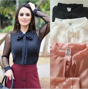 043222f7f7f88 Blusa Laco Na Gola - Camisetas e Blusas com o Melhores Preços no Mercado  Livre Brasil
