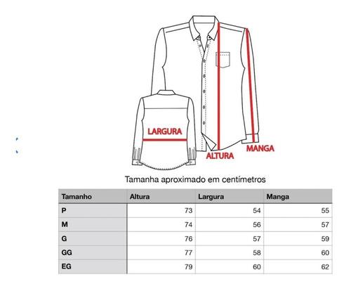 blusa social manga longa microleve premium - não amassa
