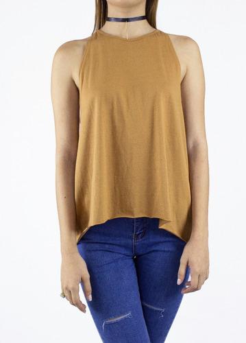 blusa synergy top halter cuello redondo 112j