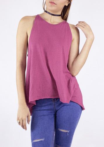 blusa synergy top halter cuello redondo rosada 112j