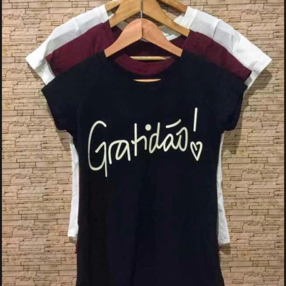 40e1903e1 blusa t-shirt camiseta feminina gratidão moda evangélica. Carregando zoom.
