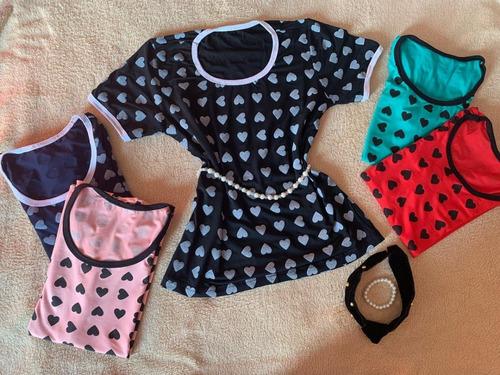 blusa t-shirt estampa coração - promoção