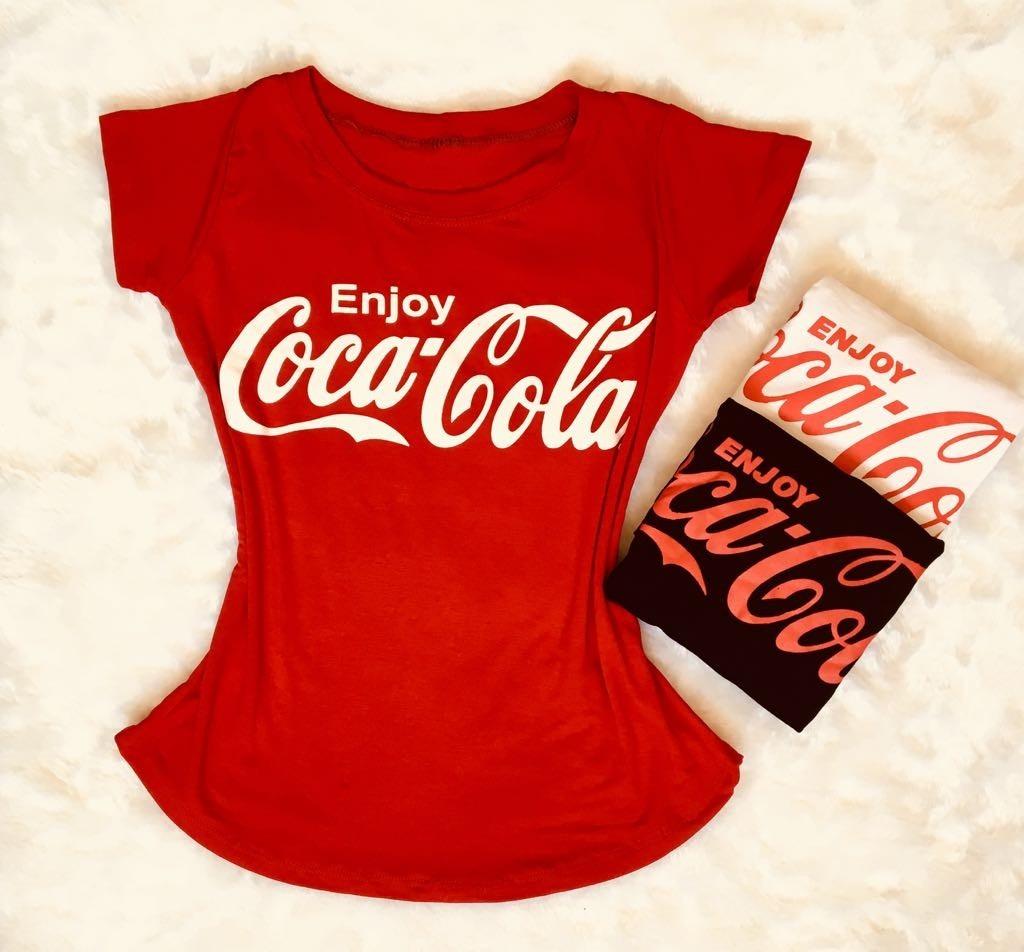 blusa t-shirt feminina estilizada furos coca-cola promoção. Carregando zoom. 4985cee240e