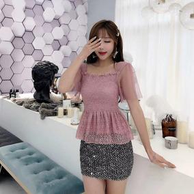 f374c477dc Blusa Feminina Rosa Decote Quadrado - Calçados