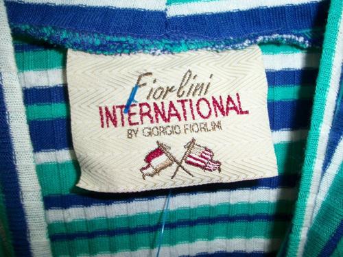 blusa tejida rayada fiorlini  talla l-36 cuello d tortuga.