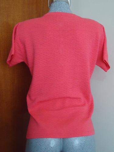 blusa tejido de punto rosa fuerte  l-38  p/damas gorditas