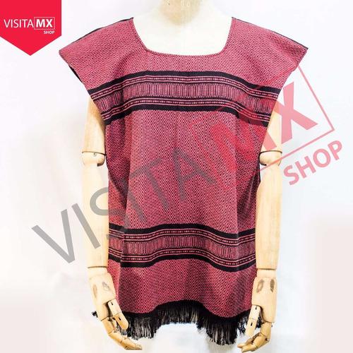 blusa telar negra roja diamantes - 125229