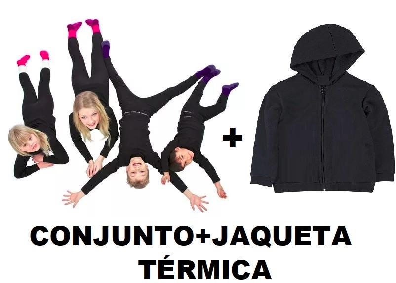 0c4e987f927ef blusa térmica infantil+calça+jaqueta+touca+luva+meia. Carregando zoom.
