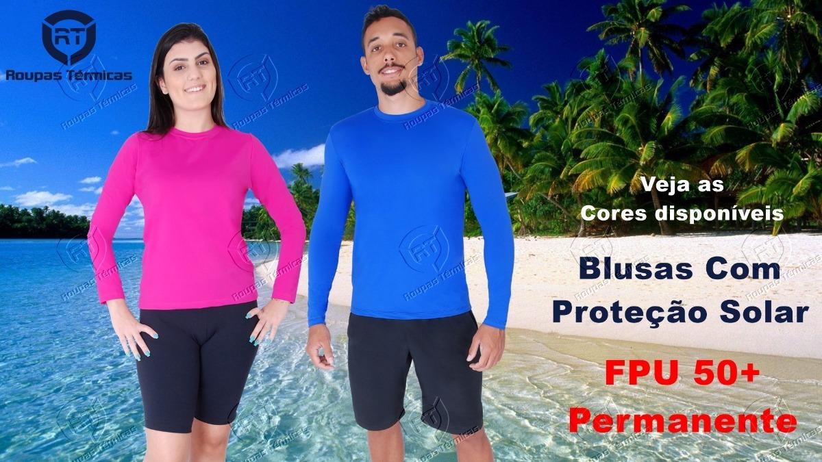 5b2814e854 blusa térmica segunda pele praia piscina proteção solar uv50. Carregando  zoom.
