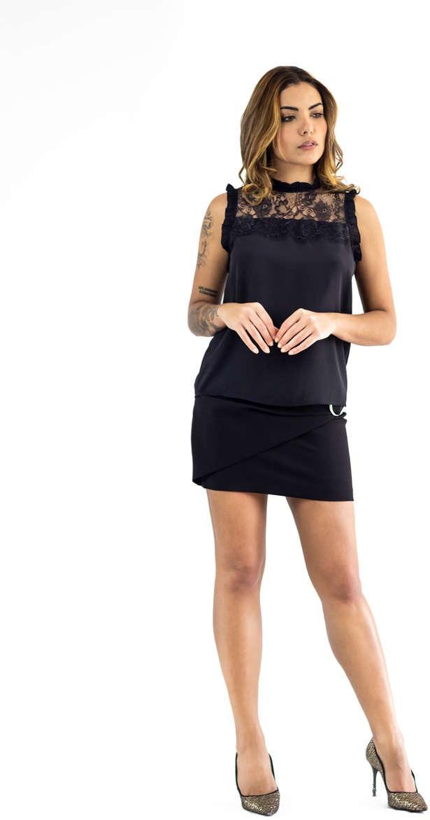 4a9b871480 blusa the style box decote renda com - oferta. Carregando zoom.