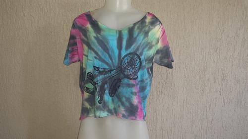 blusa tie dye artesanal estampada