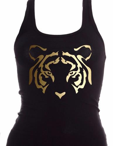 blusa tigres negra y oro