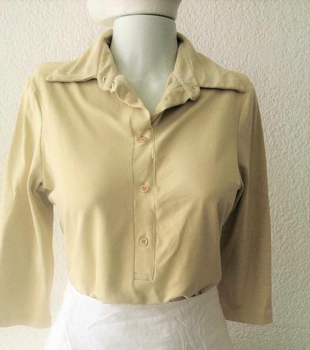 blusa tipo camisa em lycra - cheroy