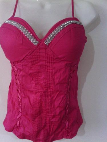 blusa tipo corset