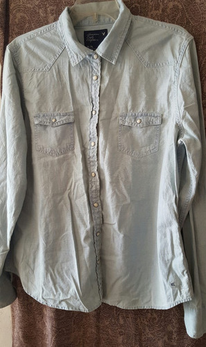 blusa tipo mezclilla american eagle manga larga
