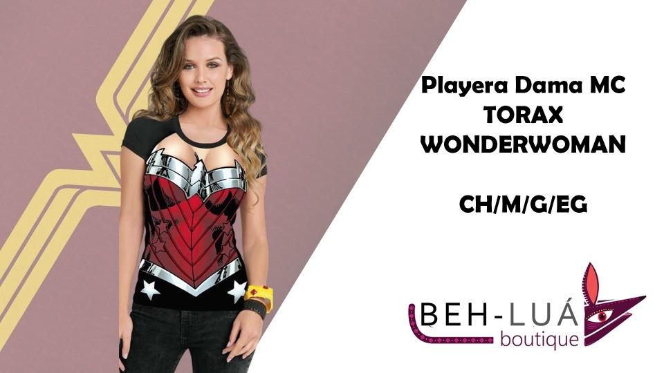 Blusa Tórax Wonderwoman -   230.00 en Mercado Libre e6991fbeef74b