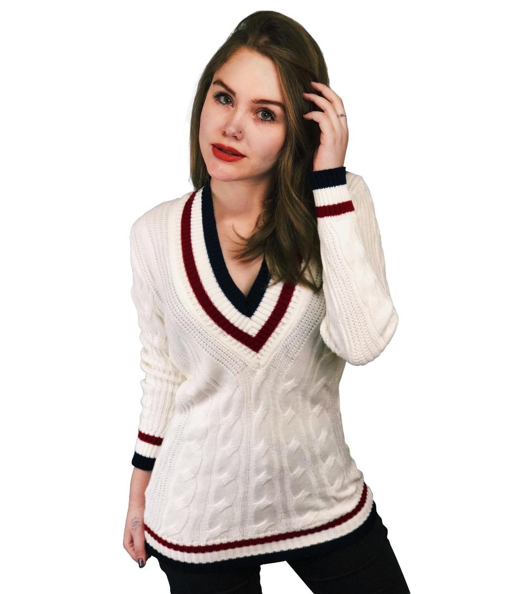 d71ee3f454 blusa tricot feminino colegial decote v frio manga longa. Carregando zoom.