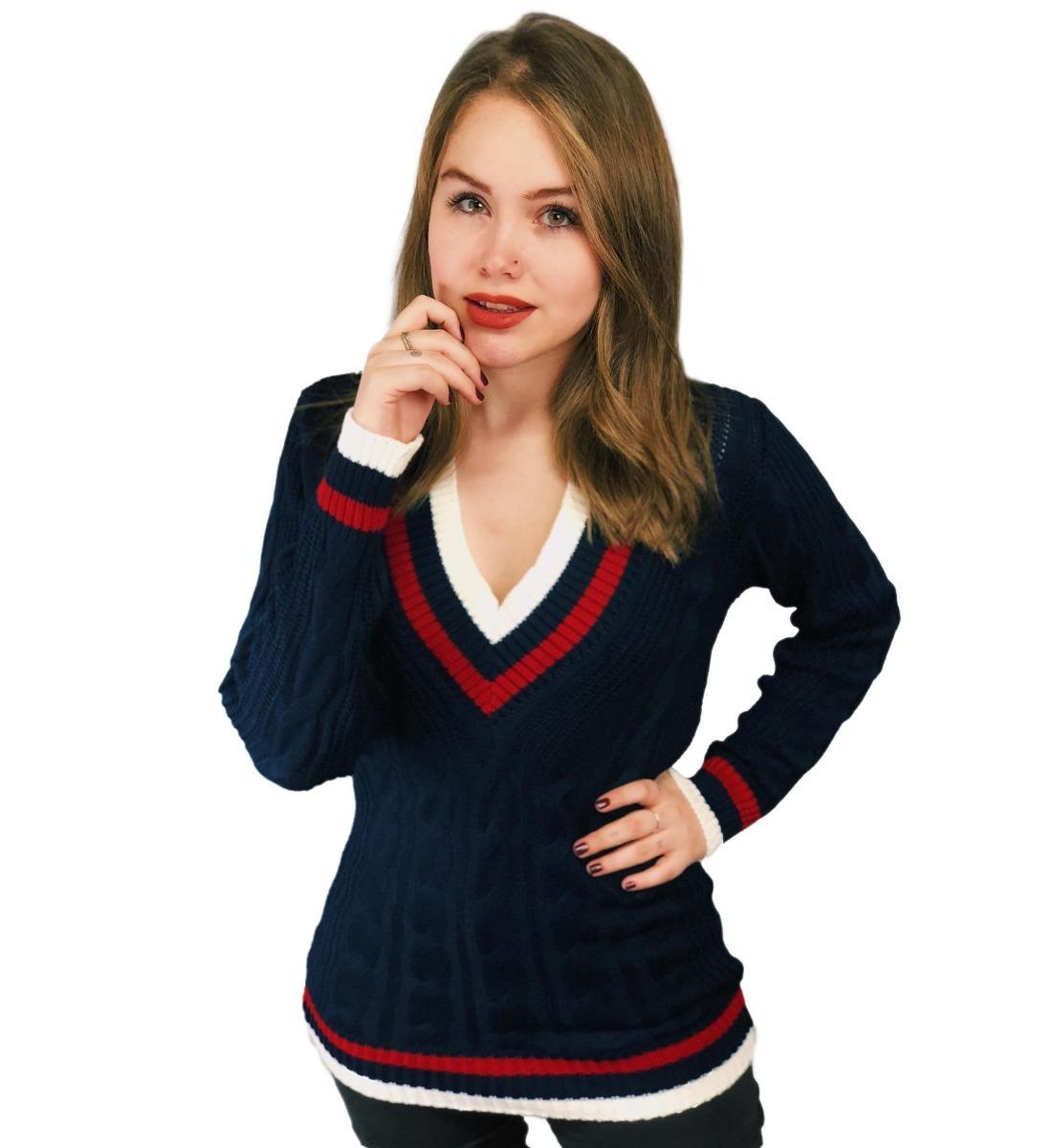 170905ed42 blusa tricot tricô decote colegial feminino manga longa frio. Carregando  zoom.