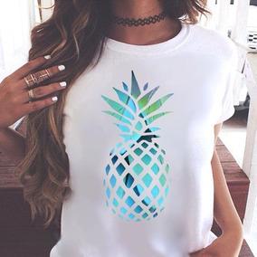 10f22a7cf T Shirt Feminina Abacaxi - Calçados, Roupas e Bolsas com o Melhores Preços  no Mercado Livre Brasil