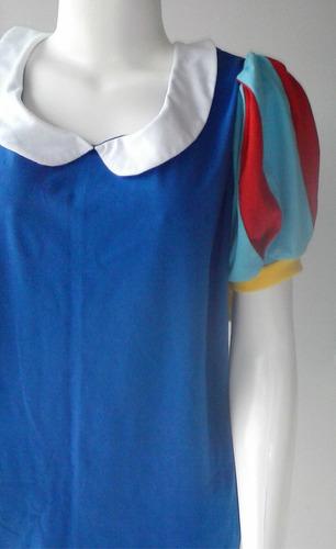 blusa tshirt feminina princesa branca de neve (plus size)