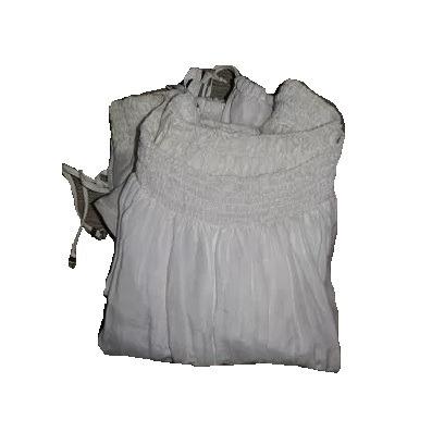 blusa tucci mujer crema manga larga talle m usada