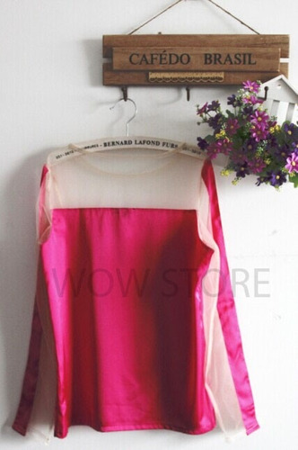 blusa tule cetim pink rosa marina ruy barbosa pronta entrega
