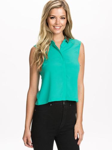 blusa verde linea casual sensacion