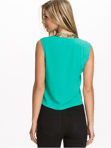 blusa verde linea lounge sensacion