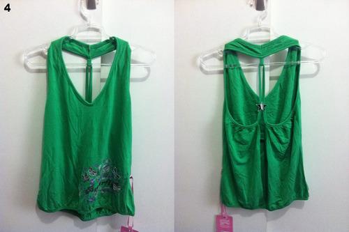 blusa verde modelos diversos com etiqueta