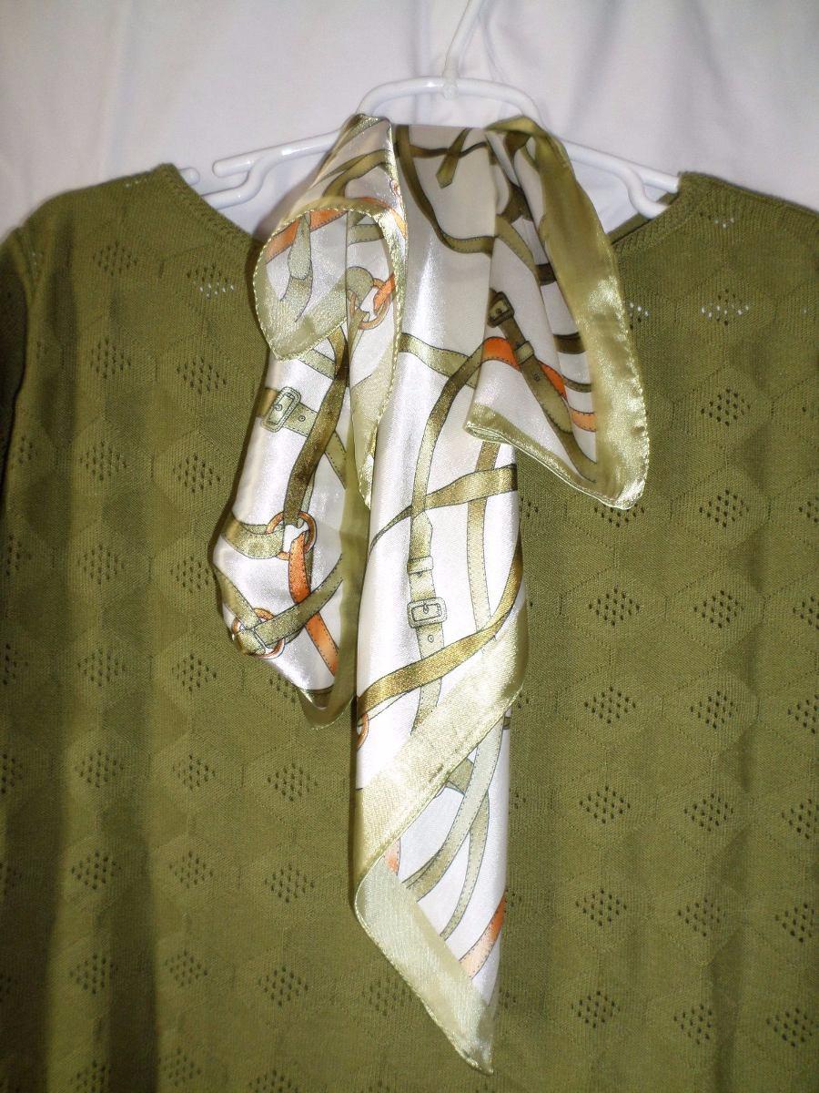 dc89828607 blusa verde vencedora com lenço. Carregando zoom.