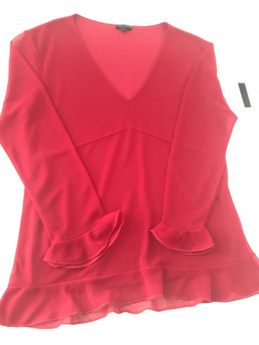 5f23f6663 Blusa Vermelha Manga Longa - R$ 35,00 em Mercado Livre