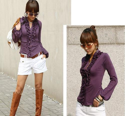 blusa vintage casual moda japonesa asiatica