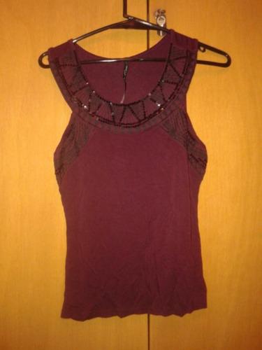 blusa violeta (daniel cassin) talle s con lentejuelas.