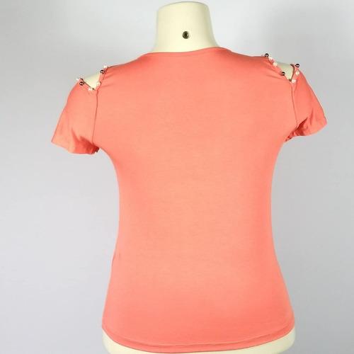 blusa viscolycra decote redondo bordado perolas (cod.178)