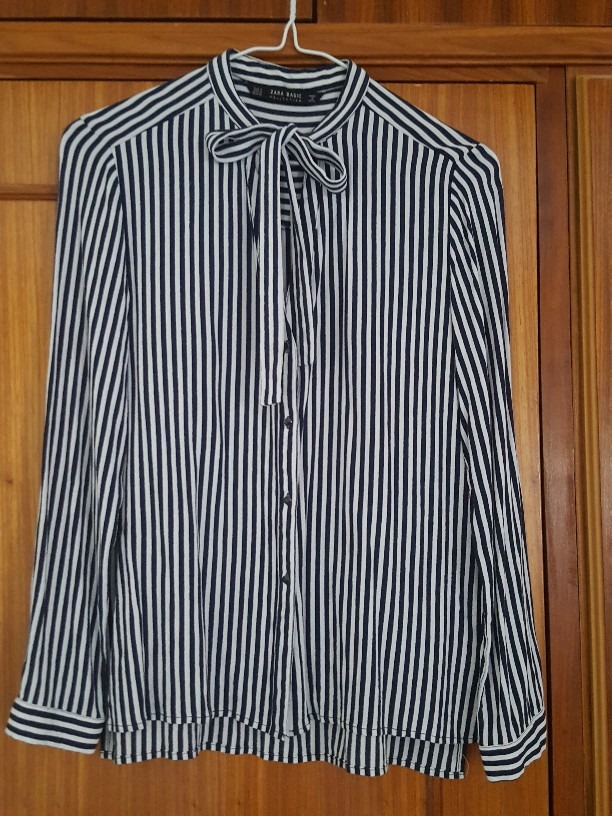 1900d7d70 ... camisa vestir manga larga rayas y lazo dama. Cargando zoom.