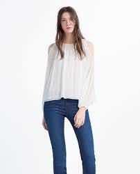 9999be693 Blusa Zara Plisada Blanca