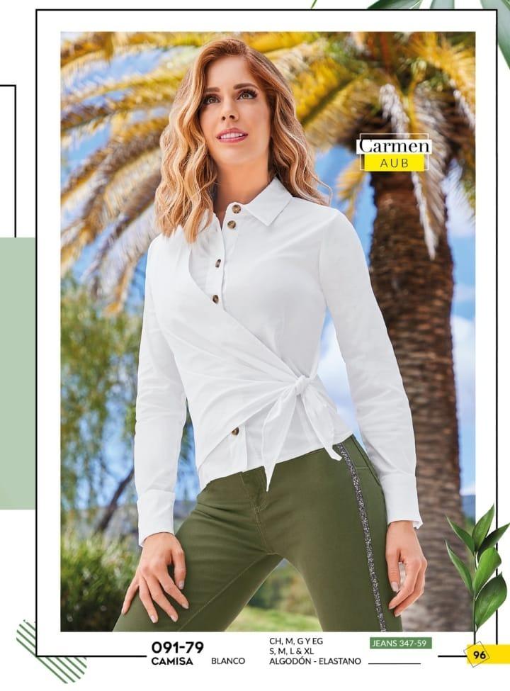 08ad62887 Blusa camisa Dama Cklass Blanco Cruzada 091-79 Pvbs-2019 -   499.00 en  Mercado Libre
