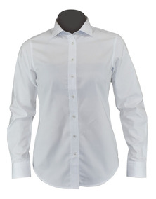 e49d0b072ead Blusa/camisa De Vestir Dama Blanca, Moderna, Algodón Liliana