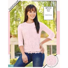 ce9858d9ce5dc Blusa Cklass Rosa Crochet 973-10 Primavera Verano 2018 Nueva
