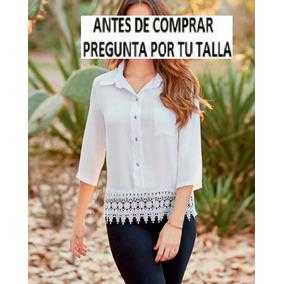 75376a1b84300 Camisa Blusa Con Guipur en Mercado Libre México