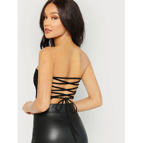 bf3eae4448a79 Blusa Negra Tiras Espalda Blusas Dama Ropa Mujer Ropa Sexy