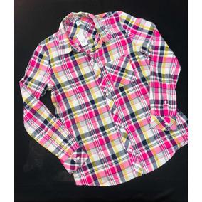 a50ec1ad34 Gap Blusa Camisa Mujer Cuadros Manga Larga Talla S Original