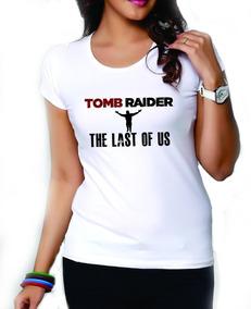 """Tomb Raider /""""Logo/"""" Para Mujer Ajustada T-Shirt-Nuevo Y Oficial! Gris"""